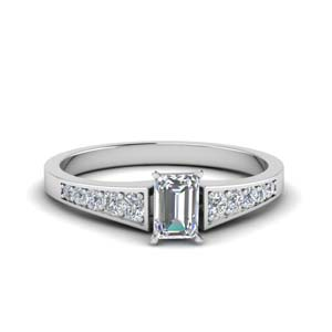 Graduated Emerald Cut Accent Ring