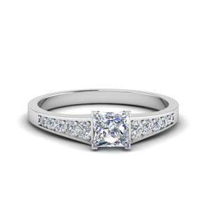 Princess Cut Petite Engagement Rings
