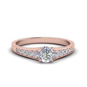 Accent Pave Diamond Ring