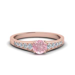 Graduated Morganite Wedding Ring