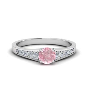 Pink Morganite Graduated Ring