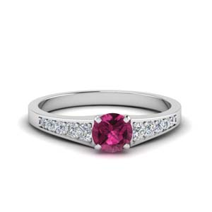 Pink Sapphire Round Cut Ring