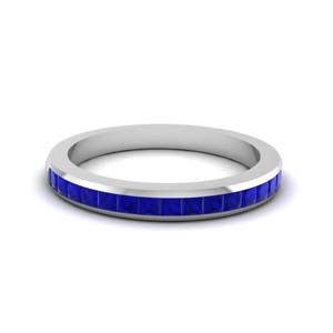 Channel Set Sapphire Band