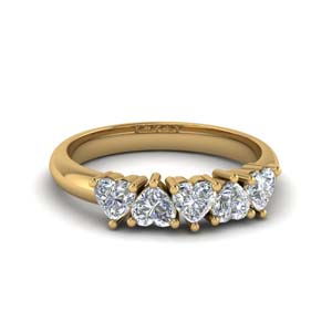 5 Heart Diamond Band