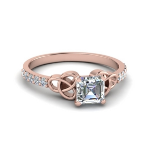 Celtic Moissanite Ring