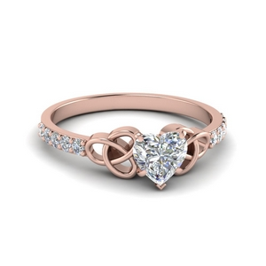 0.50 Carat Heart Diamond Celtic Ring