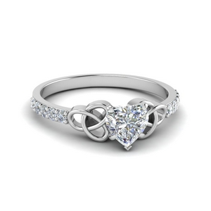 Celtic Petite Pave Diamond Ring