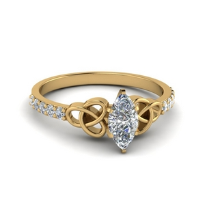 Marquise Shaped Pave Diamond Ring