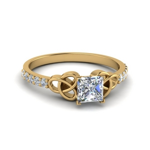 Princess Cut Petite Diamond Ring