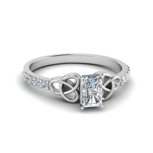 Platinum Celtic Knot Diamond Ring