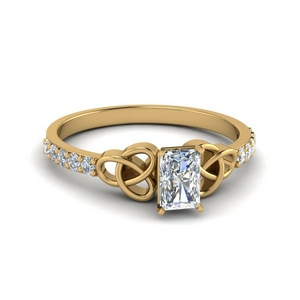 Radiant Diamond Irish Engagement Ring