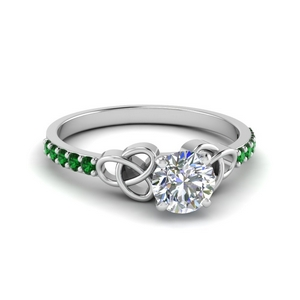 Celtic Knot Emerald Ring