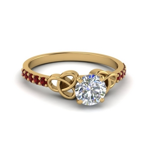 18K Gold Ruby Petite Ring