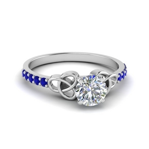 Celtic Knot Sapphire Ring