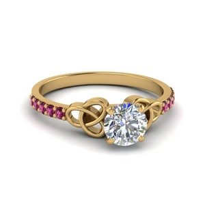 Pink Sapphire Delicate Ring