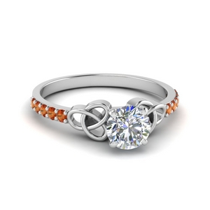 Irish Design Orange Sapphire Ring