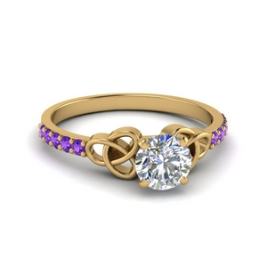 14K Gold Purple Topaz Ring