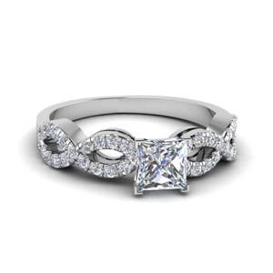 Princess Cut Ring With Split Shank
