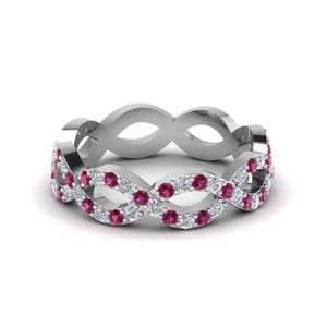 Pink Sapphire Eternity Wedding Band