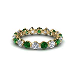 Eternity Emerald Stackable Band