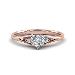 Heart Diamond Simple Ring