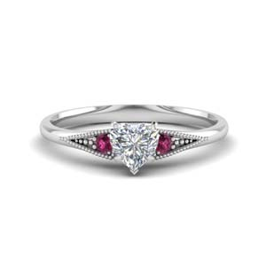 Trinity Heart Diamond Ring