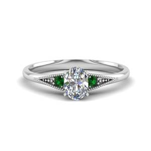 Oval Shaped Emerald Ring
