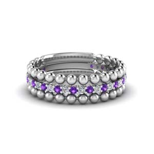 Trio Bead Wedding Band