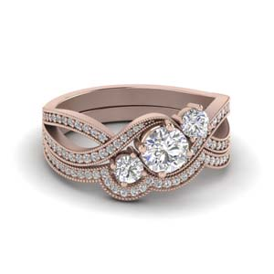 Pave Bridal Ring Sets