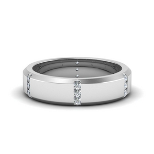 3 Stone Wedding Band For Women