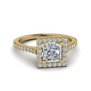 Princess Cut Petite Moissanite Rings