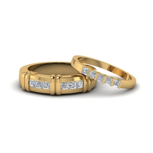 Couples Channel Bar Set Rings