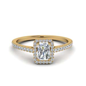 Halo Radiant Diamond Engagement Rings