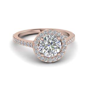 Halo Diamond Ring For Women
