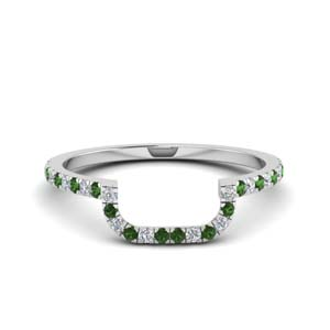Curved Emerald Band