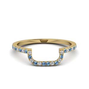 Blue Topaz Curved Band