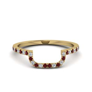 Ruby Curved Wedding Band