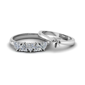 Semi Mount Platinum Ring Set