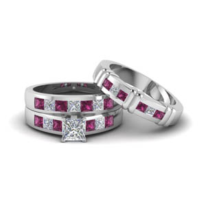 Princess Cut Trio Bridal Set