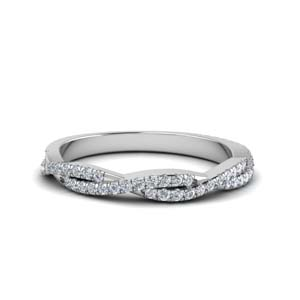Twisted Vine Diamond Band