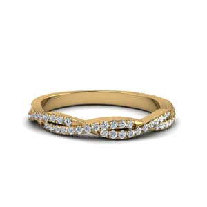 twisted vine diamond wedding band in FD8233B NL YG