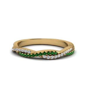Emerald Infinity Diamond Band