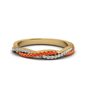 Unique Orange Topaz Band