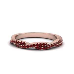 ruby infinity wedding band