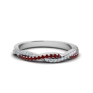 Vine Ruby With Diamond Band
