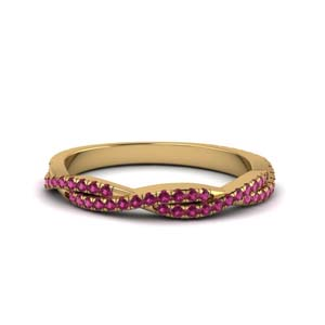 Pink Sapphire Braided Band