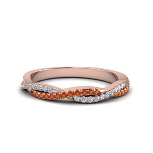 Orange Sapphire Womens Band