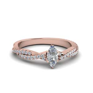 14K Rose Gold Twisted Wedding Ring
