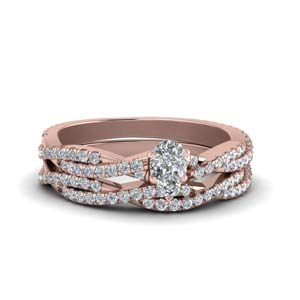 Pear Diamond Wedding Ring Sets