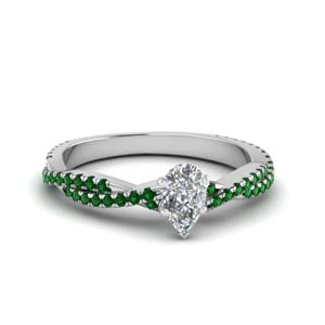 1 Carat Emerald Vine Wedding Ring